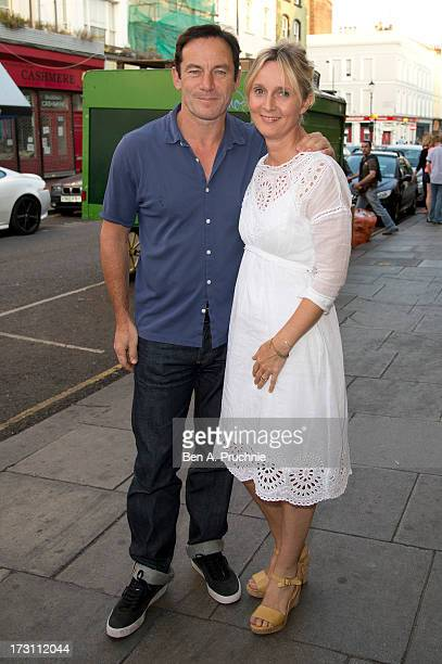 Jason Isaacs and Emma Hewitt attends the UK Premiere of 'Trap For Cinderella' at The Electric Cinema on July 7, 2013 in London, England.