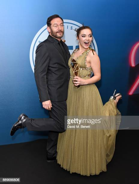 Jason Isaacs and Florence Pugh attend the British Independent Film Awards held at Old Billingsgate on December 10 2017 in London England