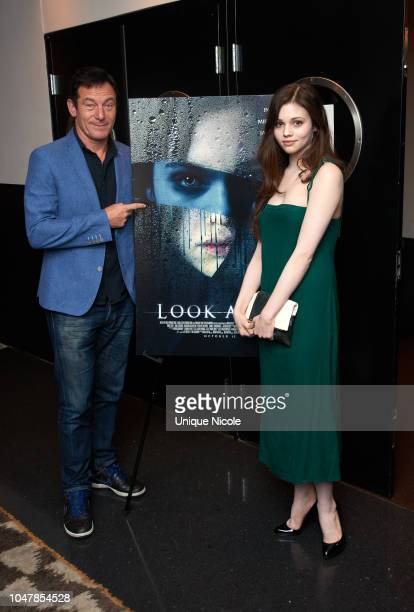 Jason Isaacs and India Eisley attend Screening Of Vertical Entertainment's Look Away at NeueHouse Hollywood on October 9 2018 in Los Angeles...