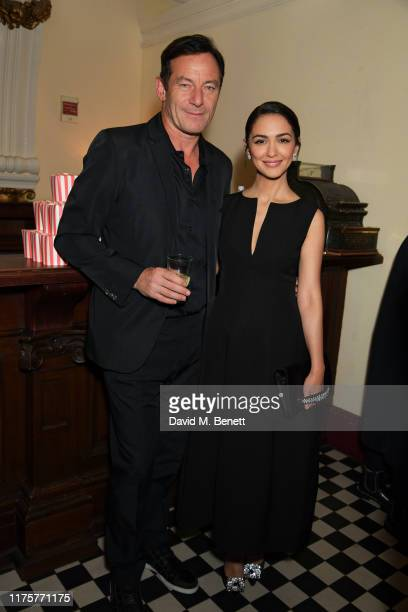 "Jason Isaacs and Nazanin Boniadi attend a Gala Screening of ""Hotel Mumbai"" at The Electric Cinema, on September 19, 2019 in London, England."