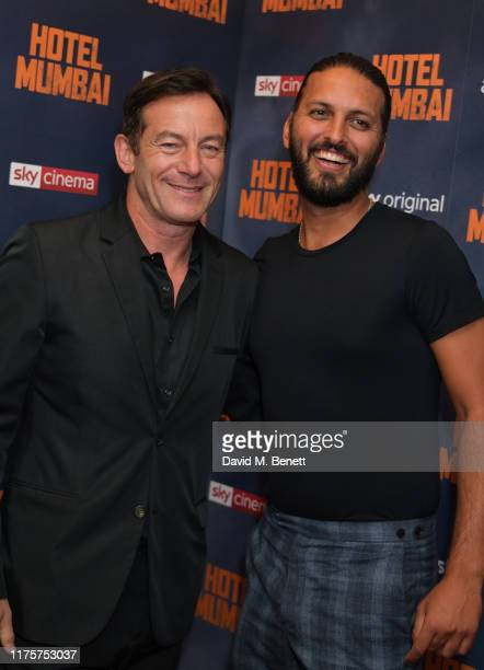 """Jason Isaacs and Shazad Latif attend a Gala Screening of """"Hotel Mumbai"""" at The Electric Cinema, on September 19, 2019 in London, England."""