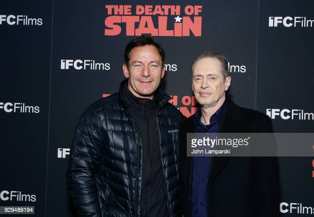 jason Isaacs and Steve Buscemi attend 'The Death Of Stalin' New York premiere at AMC Lincoln Square Theater on March 8 2018 in New York City