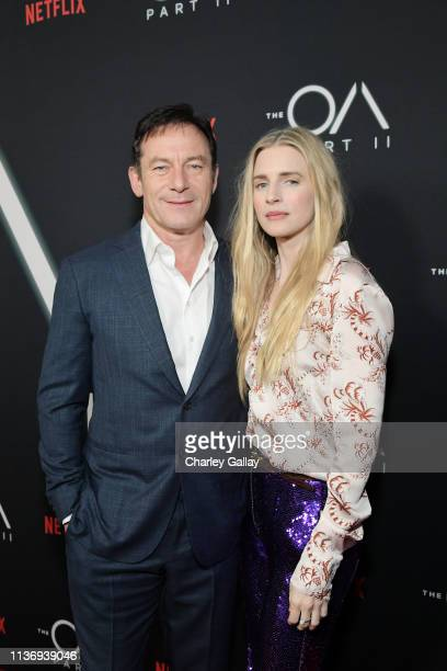 Jason Isaacs and The OA Co-creator Brit Marling attends THE OA PART II at Bing Theatre At LACMA on March 19, 2019 in Los Angeles, California.