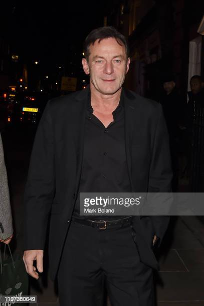 Jason Isaacs arrives at the dunhill & Dylan Jones Pre-BAFTA dinner at dunhill Bourdon House on January 29, 2020 in London, England.