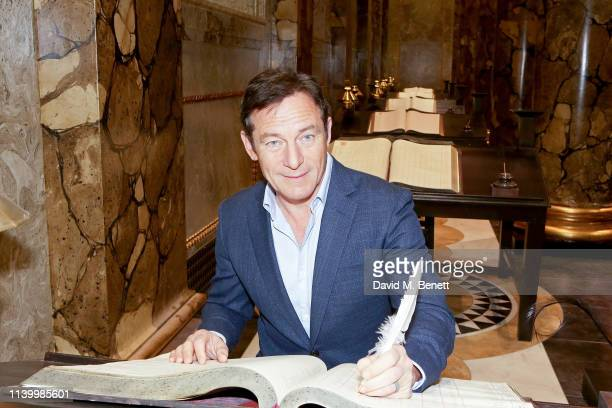 Jason Isaacs attends the exclusive launch event for the Original Gringotts Wizarding Bank at Warner Bros. Studio Tour London - opening 6th April on...