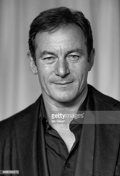 Image has been converted to black and white Jason Isaacs attends the Jameson Empire Awards 2015 at Grosvenor House on March 29 2015 in London England