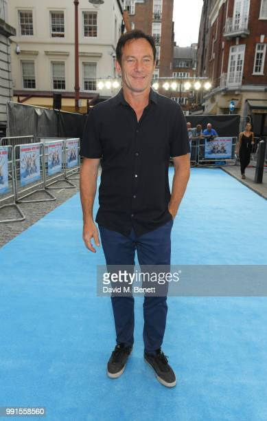 "Jason Isaacs attends the UK Premiere of ""Swimming With Men' at The Curzon Mayfair on July 4, 2018 in London, England."
