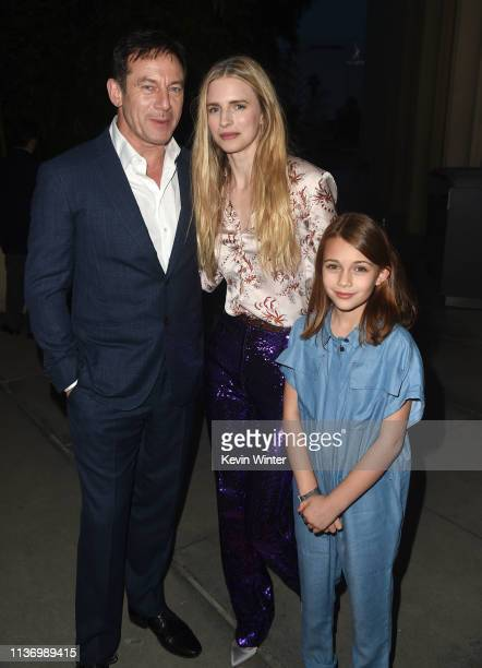 """Jason Isaacs, Brit Marling and Zoey Todorovsky arrive at the premiere of Netflix's """"The OA Part II"""" at LACMA on March 19, 2019 in Los Angeles,..."""