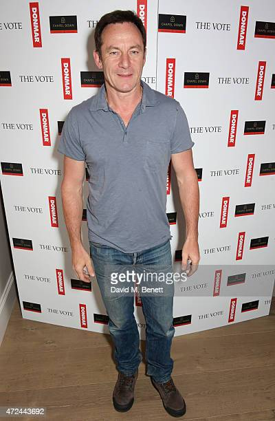 Jason Isaacs celebrates following the live broadcast of The Donmar Warehouse's production of The Vote at the Ham Yard Hotel generously supported by...