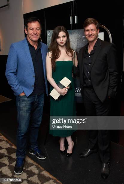 Jason Isaacs India Eisley and Assaf Bernstein attend Screening Of Vertical Entertainment's Look Away at NeueHouse Hollywood on October 9 2018 in Los...