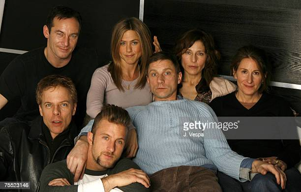 Jason Isaacs Jennifer Aniston Catherine Keener and Nicole Holofcener with Greg German Scott Caan and Simon McBurney during the 2006 Sundance Film...