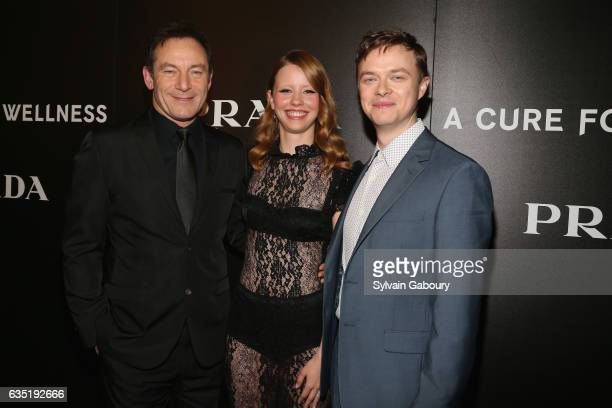 Jason Isaacs Mia Goth and Dane Dehaan attend 20th Century Fox and Prada Host a Screening of A Cure for Wellness on February 13 2017 in New York City