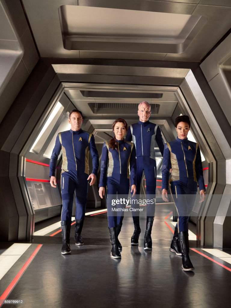 Jason Isaacs, Michelle Yeoh, Doug Jones and Sonequa Martin-Green from Star Trek Discovery are photographed for Entertainment Weekly Magazine on July 9, 2017 in Los Angeles, California. PUBLISHED