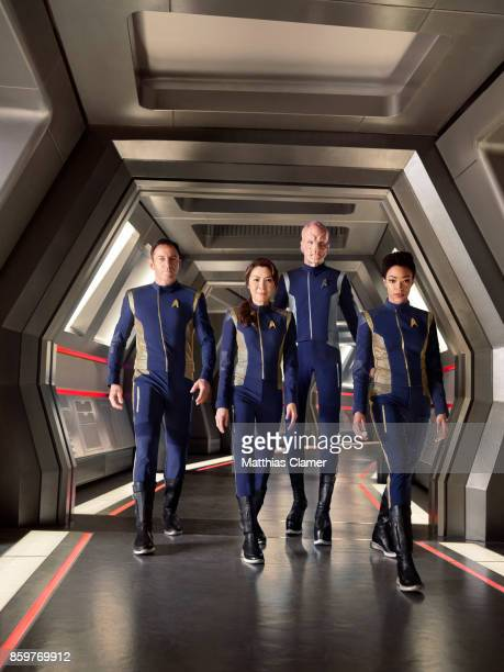 Jason Isaacs Michelle Yeoh Doug Jones and Sonequa MartinGreen from Star Trek Discovery are photographed for Entertainment Weekly Magazine on July 9...