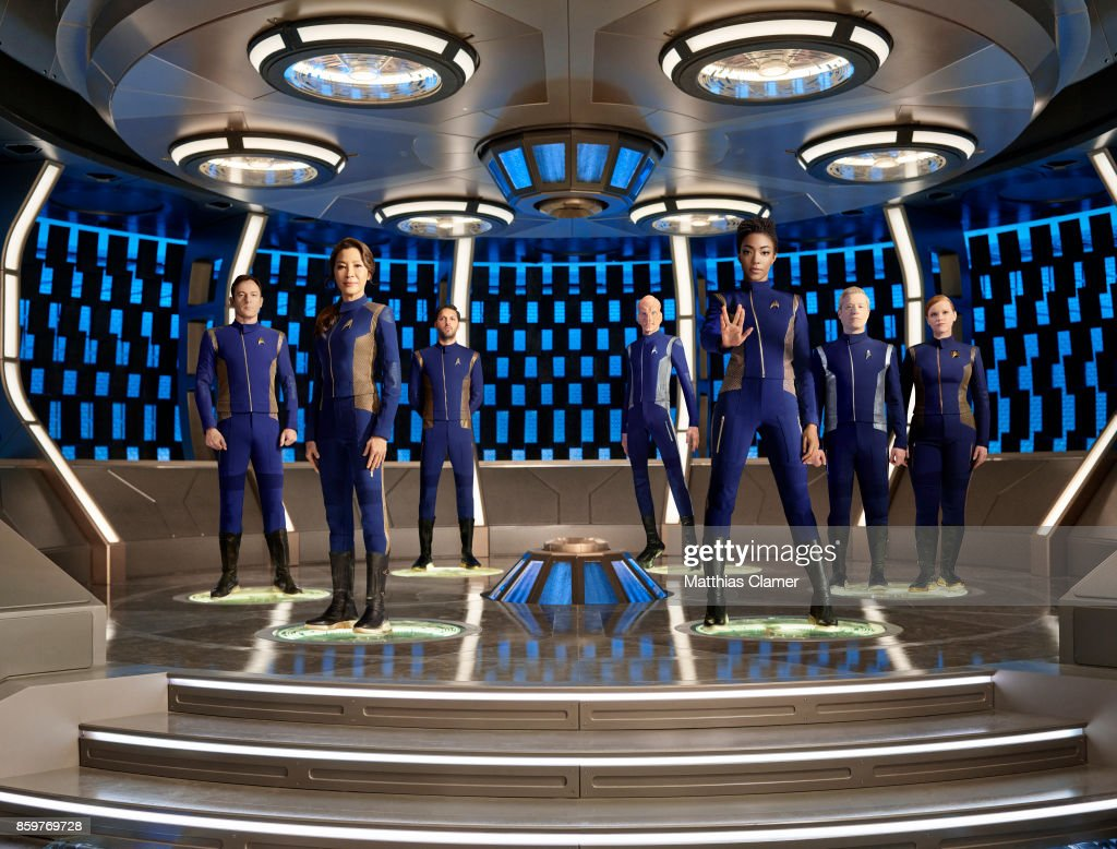 Jason Isaacs, Michelle Yeoh, Shazad Latif, Doug Jones, Sonequa Martin-Green, Anthony Rapp and Mary Wiseman from Star Trek Discovery are photographed for Entertainment Weekly Magazine on July 9, 2017 in Los Angeles, California.