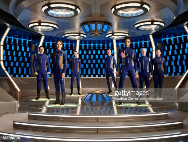 Jason Isaacs Michelle Yeoh Shazad Latif Doug Jones Sonequa MartinGreen Anthony Rapp and Mary Wiseman from Star Trek Discovery are photographed for...