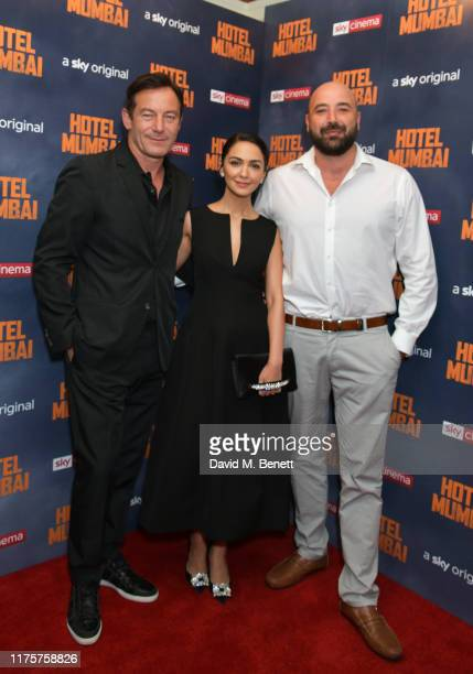 "Jason Isaacs, Nazanin Boniadi and Anthony Maras attend a Gala Screening of ""Hotel Mumbai"" at The Electric Cinema, on September 19, 2019 in London,..."