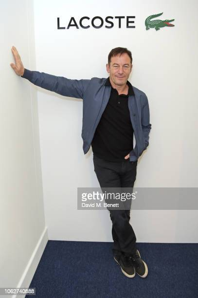 Jason Isaacs poses in the Lacoste VIP Lounge during Semi-Final Day of the 2018 Nitto ATP World Tour Tennis Finals at The O2 Arena on November 17,...