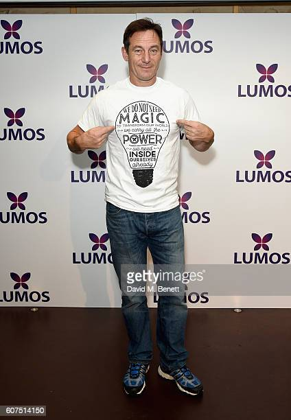 Jason Isaacs supporting the Lumos launch of its 'Be the Light' Tshirt to raise funds for its work to help end the institutionalization of children...
