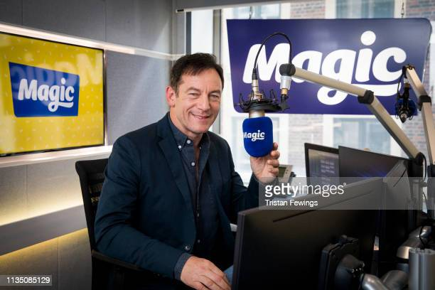 Jason Isaacs visits Magic FM on March 11, 2019 in London, England.