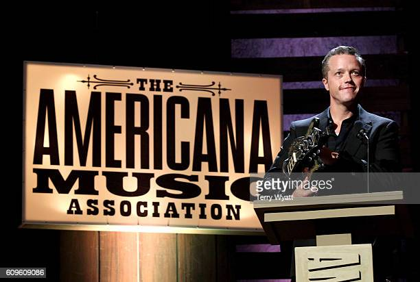 Jason Isbell accepts the Song of the Year Award onstage at the Americana Honors Awards 2016 at Ryman Auditorium on September 21 2016 in Nashville...