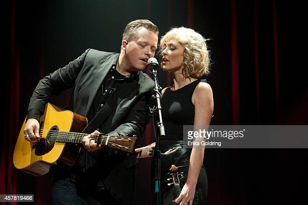 Jason Isbell and Amanda Shires perform at Ryman Auditorium on October 24 2014 in Nashville Tennessee