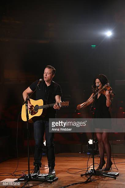 Jason Isbell and Amanda Shires perform during Old Crow Medicine Show and Jason Isbell Perform Live Streamed Concerts For Soundtrack Of America Made...