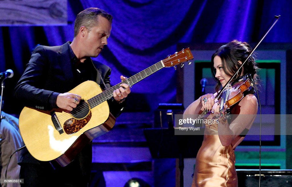 Jason Isbell and Amanda Shires perform onstage at the Americana Honors & Awards 2016 at Ryman Auditorium on September 21, 2016 in Nashville, Tennessee. at Ryman Auditorium on September 21, 2016 in Nashville, Tennessee.
