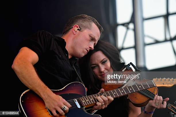 Jason Isbell and Amanda Shires perform onstage at the Pilgrimage Music Cultural Festival Day 2 on September 25 2016 in Franklin Tennessee