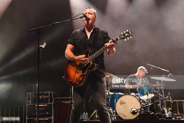 Jason Isbell and Chad Gamble perform at Sloss Furnace on July 14 2018 in Birmingham Alabama