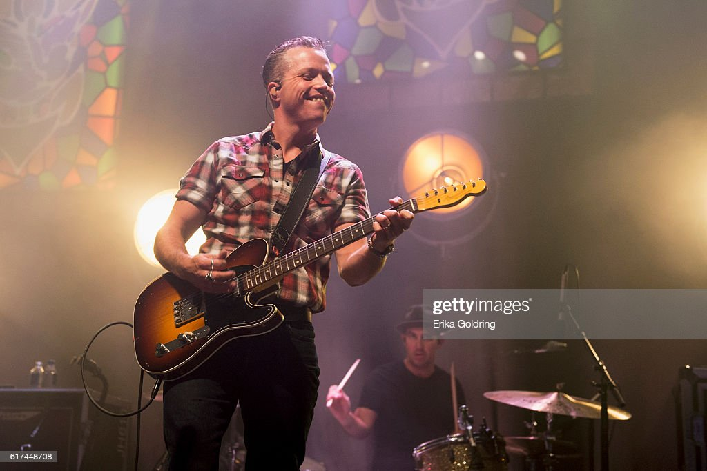 Jason Isbell (L) and Chad Gamble perform at The Joy Theater on October 22, 2016 in New Orleans, Louisiana.