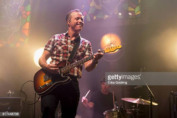 Jason Isbell and Chad Gamble perform at The Joy Theater on October 22 2016 in New Orleans Louisiana