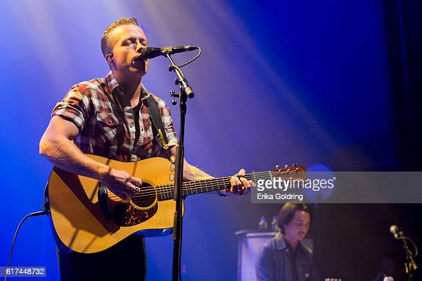 Jason Isbell and Derry deBorja perform at The Joy Theater on October 22 2016 in New Orleans Louisiana