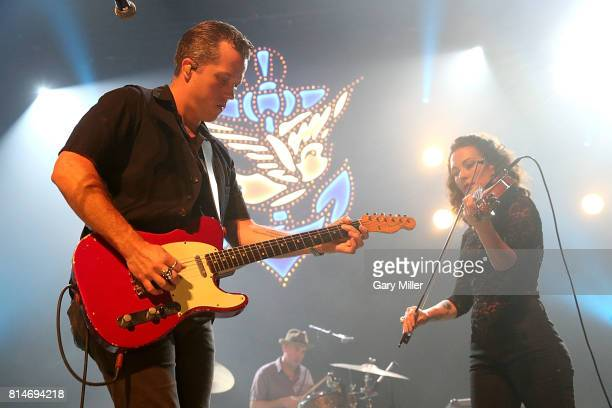 Jason Isbell and his wife Amanda Shires perform in concert at ACL Live on July 14 2017 in Austin Texas