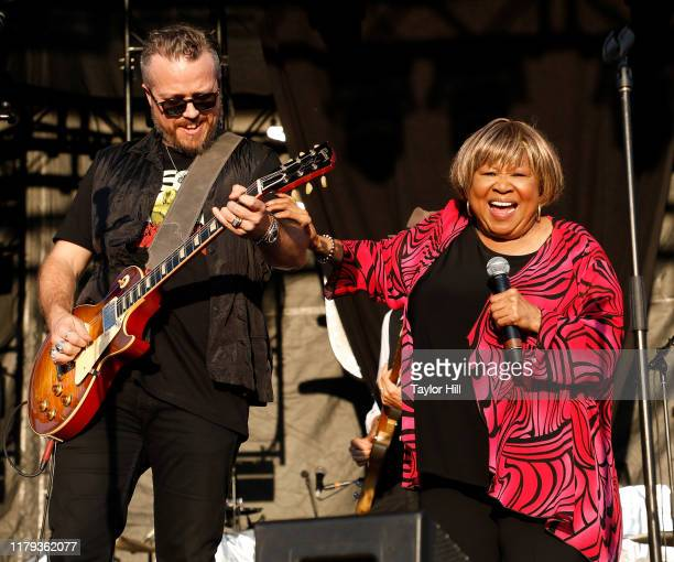 Jason Isbell and Mavis Staples perform during the inaugural Shoals Fest at McFarland Park on October 05 2019 in Florence Alabama