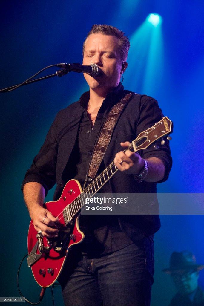 Jason Isbell performs at Ryman Auditorium on October 11, 2017 in Nashville, Tennessee.