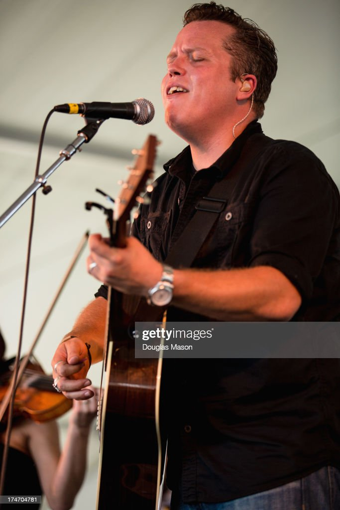 Jason Isbell performs during the 2013 Newport Folk Festival at Fort Adams State Park on July 27, 2013 in Newport, Rhode Island.