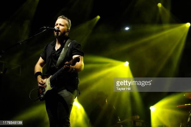 Jason Isbell performs during the inaugural Shoals Fest at McFarland Park on October 05 2019 in Florence Alabama
