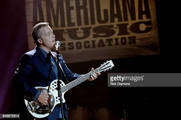 Jason Isbell performs onstage during the 2017 Americana Music Association Honors Awards on September 13 2017 in Nashville Tennessee