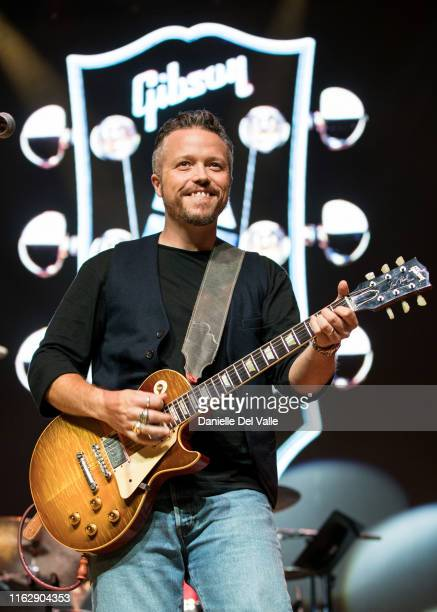 Jason Isbell performs onstage during the 2019 Summer NAMM Jam Gibson Opening Party at Wildhorse Saloon on July 18 2019 in Nashville Tennessee