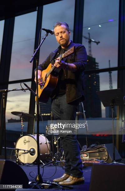 Jason Isbell performs onstage during the grand opening of We Could The Songwriting Artistry of Boudleaux and Felice Bryant at Country Music Hall of...