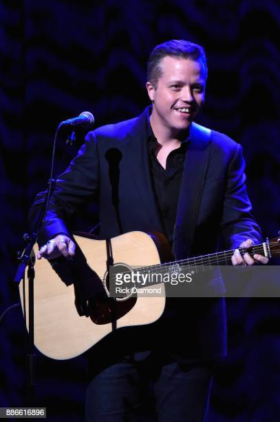 Jason Isbell performs onstage during the kick off of Jason Isbell's sold out residency at the Country Music Hall of Fame and Museum on December 5...