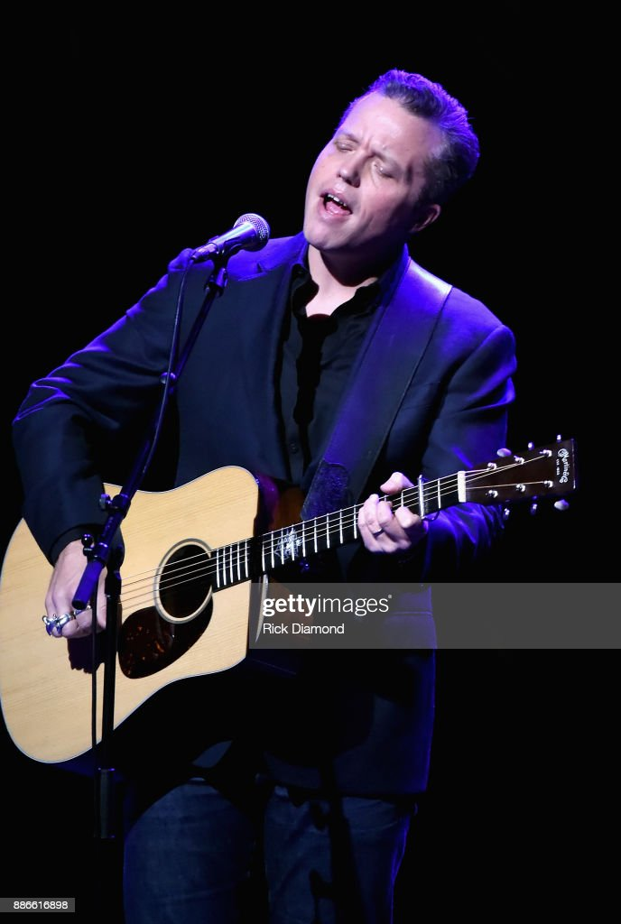Jason Isbell performs onstage during the kick off of Jason Isbell's sold out residency at the Country Music Hall of Fame and Museum on December 5, 2017 in Nashville, Tennessee.