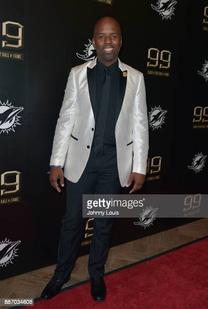 Jason Jenkins attends The Miami Dolphins 'Hall of Fame Celebration' hosting Jason Taylor at Hard Rock Stadium on December 02 2017 in Miami Gardens...