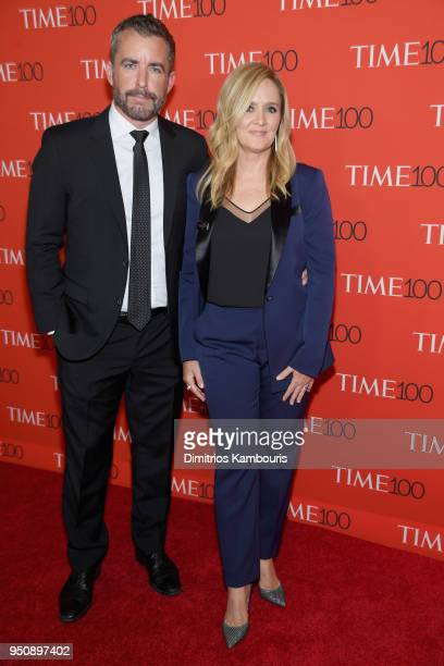 Jason Jones and comedian Samantha Bee attend the 2018 Time 100 Gala at Jazz at Lincoln Center on April 24 2018 in New York City