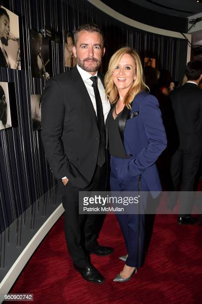Jason Jones and Samantha Bee attend the 2018 TIME 100 Gala at Jazz at Lincoln Center on April 24 2018 in New York City