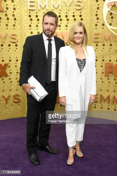 Jason Jones and Samantha Bee attend the 71st Emmy Awards at Microsoft Theater on September 22 2019 in Los Angeles California