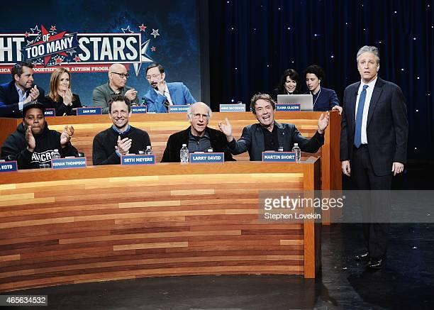 Jason Jones Keenan Thompson Sam Bee Larry Wilmore Seth Meyers John Hodgman Larry David Martin Short Abbi Jacobson Ilana Glazer and Jon Stewart attend...