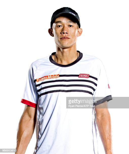 Jason Jung of Taiwan poses for portraits during the Australian Open at Melbourne Park on January 10 2018 in Melbourne Australia