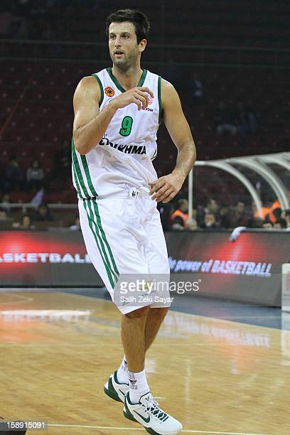 Jason Kapono of Panathinaikos Athens in action during the 20122013 Turkish Airlines Euroleague Top 16 Date 2 between Anadolu EFES Istanbul v...